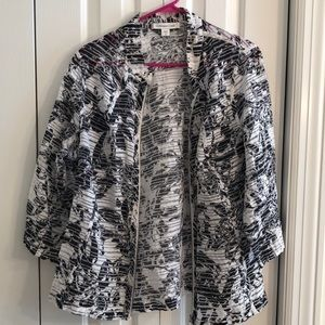 Coldwater Creek Jackets & Coats - Coldwater creek sz 18 sheer blue and white jacket